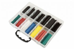 Connect 37198 250 Piece Assorted Box of Coloured Heatshrink Box